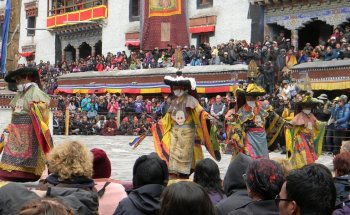 Many of the Ladakh festivals take place in winter which is...